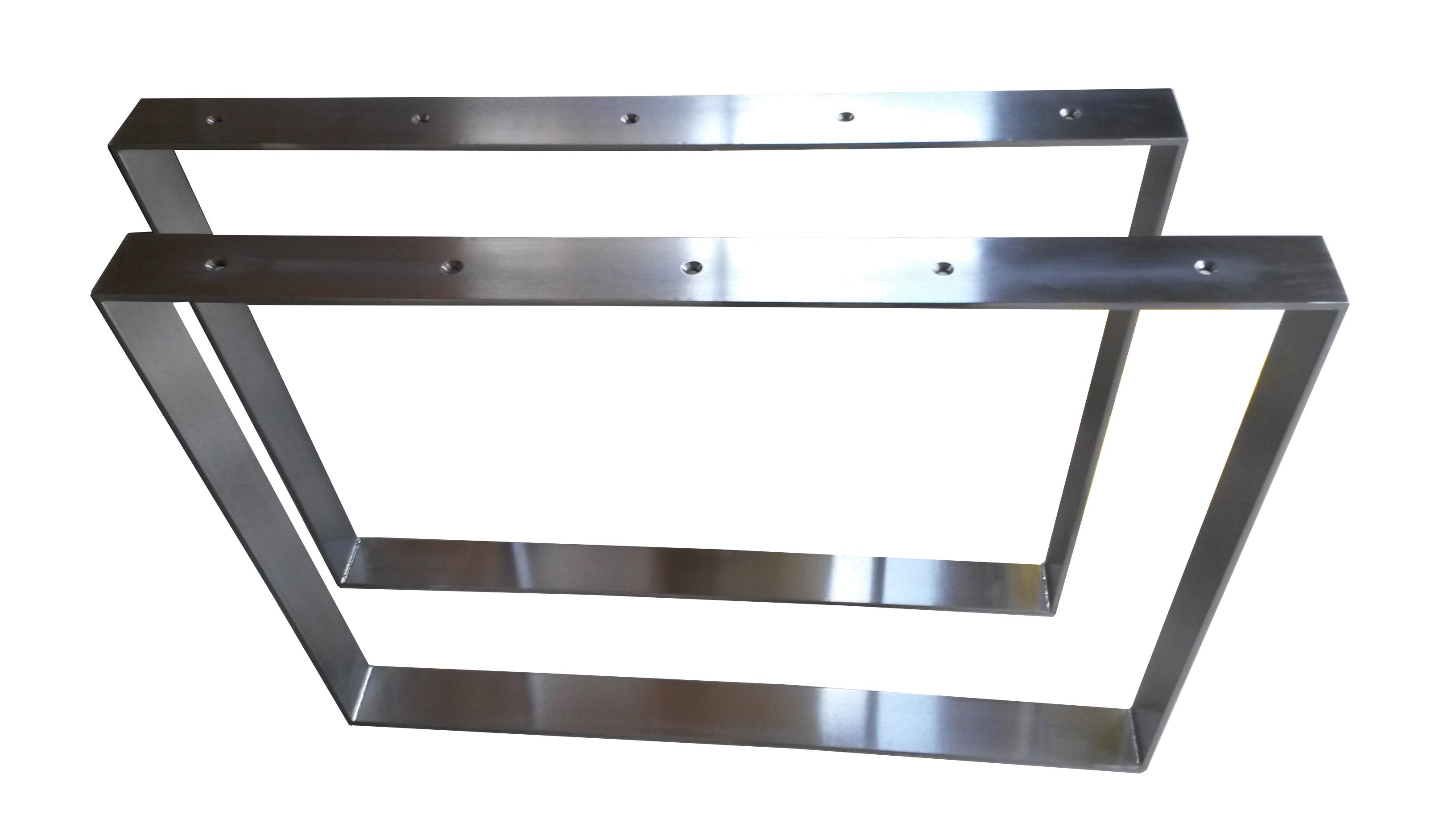 Edelstahl Tischbeine ~ 2 Set Design Tischkufen Tischbeine Edelstahl Tischfüße Tischgestell Höhe 720m