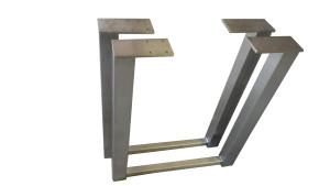 2er set design tischkufen tischbeine edelstahl tischf e tischgestell h he 720 stahl moor. Black Bedroom Furniture Sets. Home Design Ideas