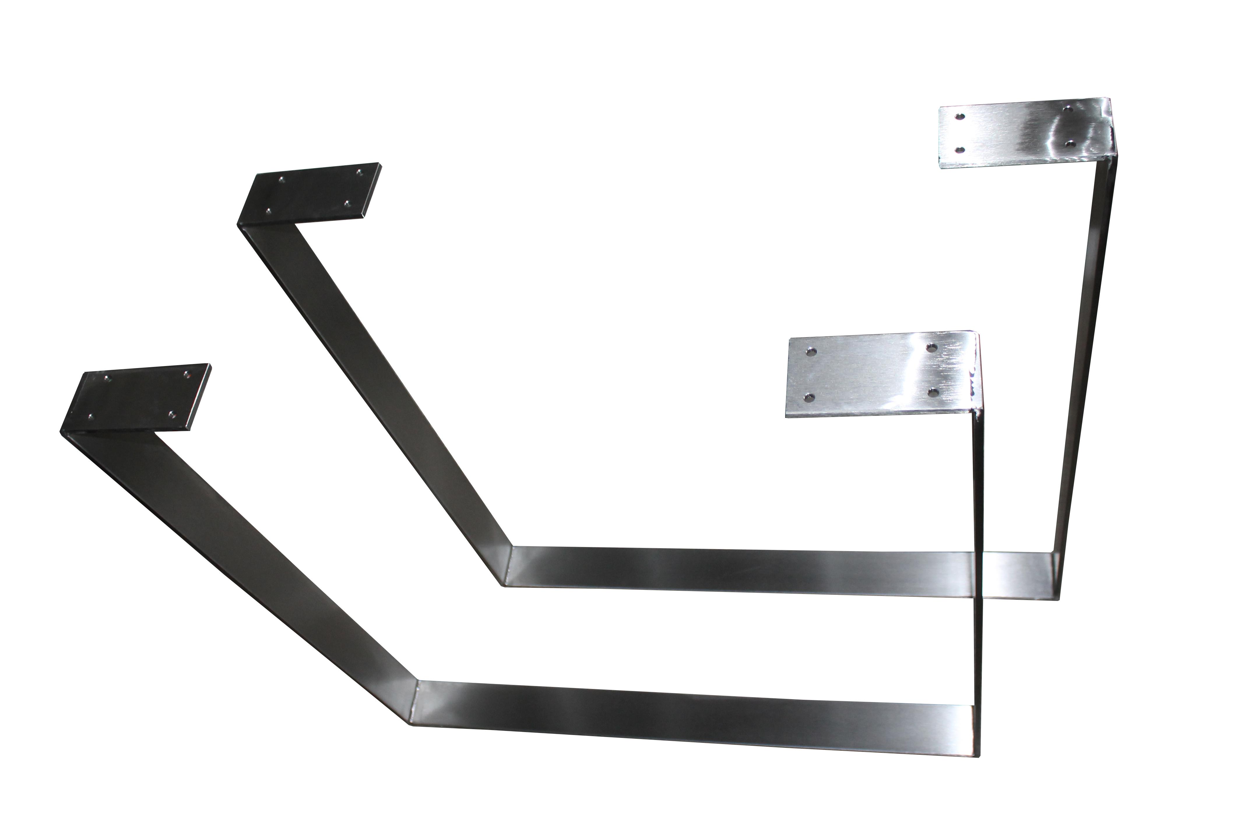 2 set design tischkufen tischbeine edelstahl tischf e for Tischgestell design