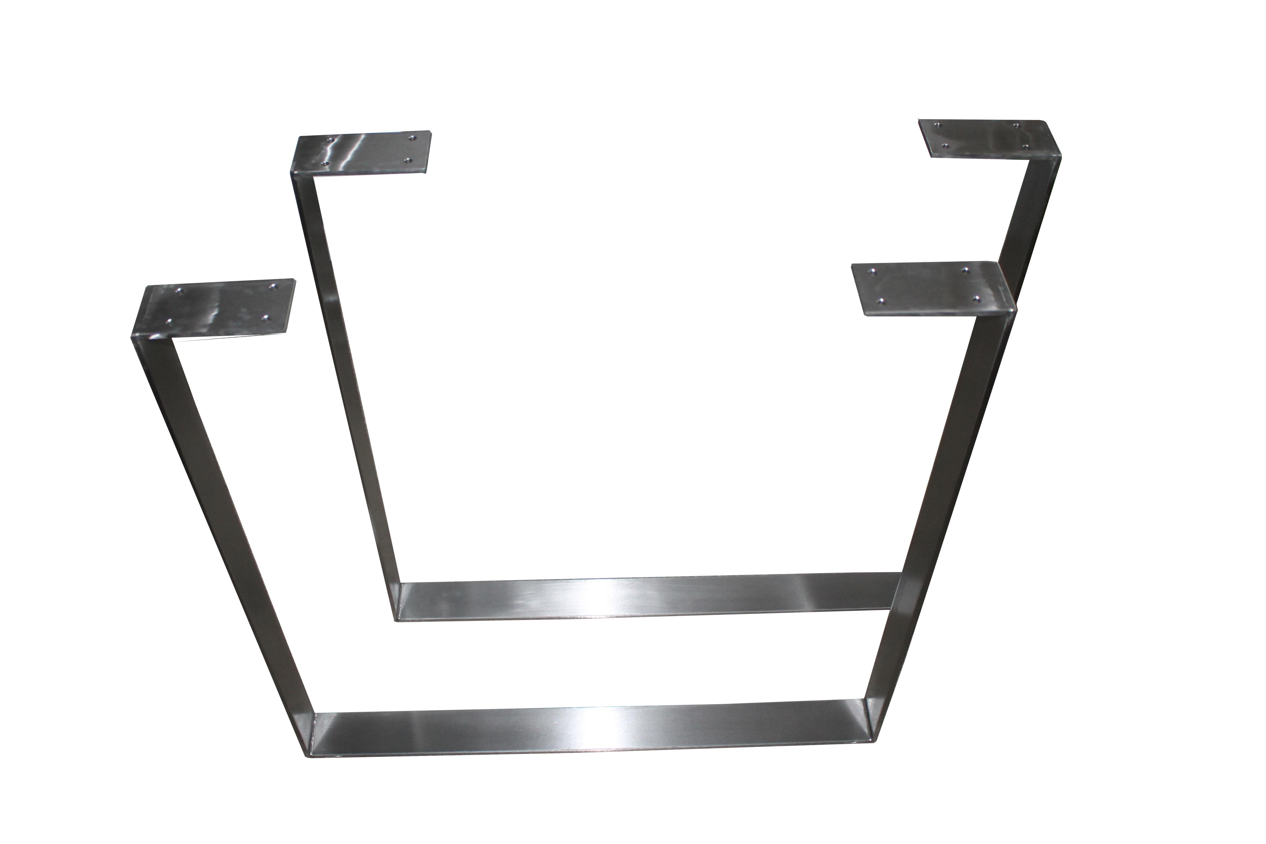2 set design tischkufen tischbeine edelstahl tischf e. Black Bedroom Furniture Sets. Home Design Ideas