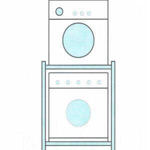 Waschmaschinen-Trockner Untergestellen