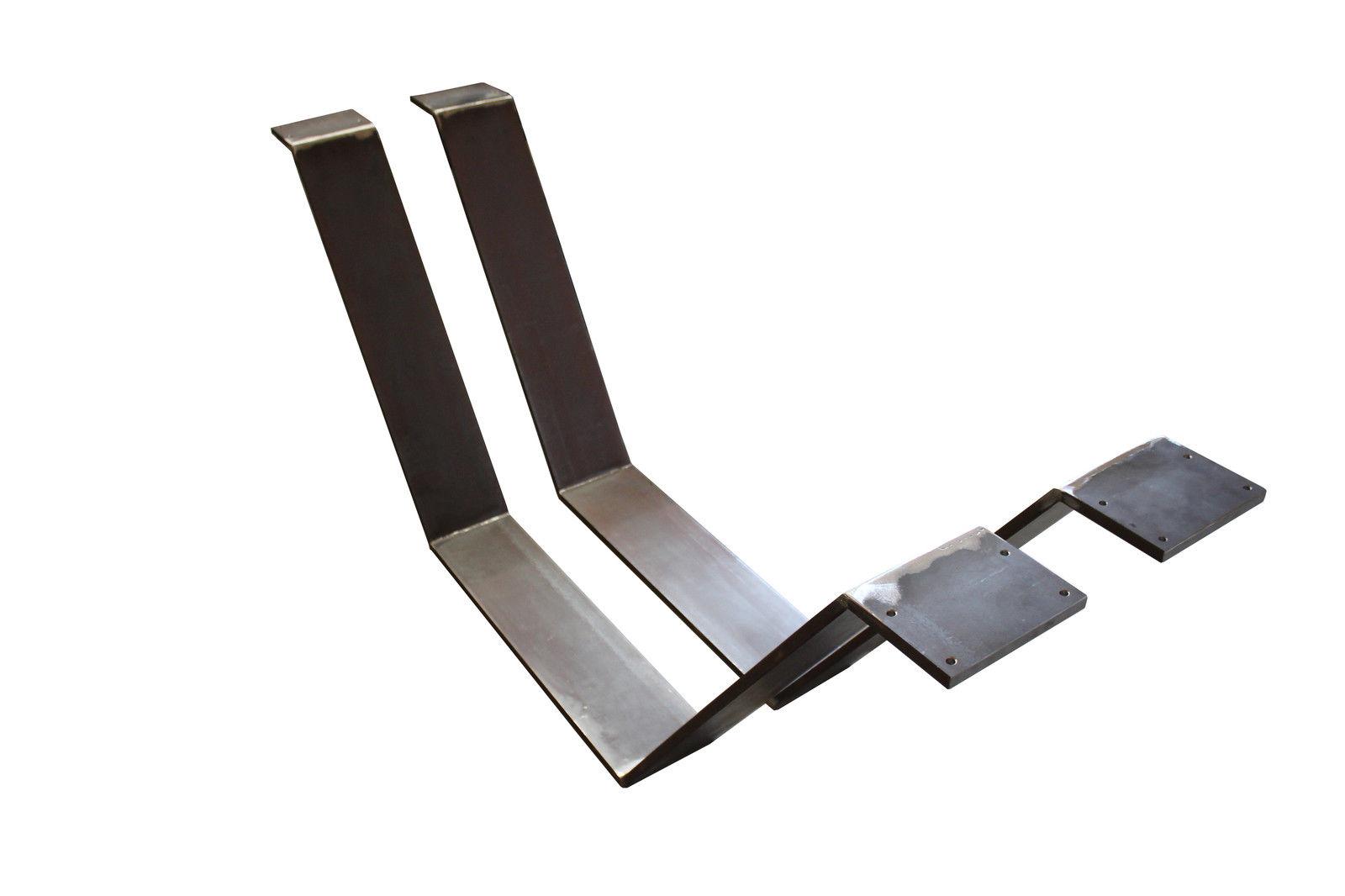 Tischgestell stahl tischkufen industrie design stahl for Tischgestell design